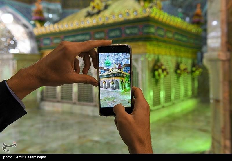 حرم منور شمسالشموس در آستانه میلاد حضرت رضا(ع) گل آرائی شد + تصاویر