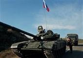 انتقال نیروهای حافظ صلح روسیه به منطقه عملیاتی قره باغ