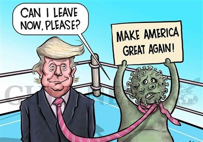 """شکست """"ترامپ"""" سوژه کاریکاتوریستهای سراسر جهان شد+عکس"""