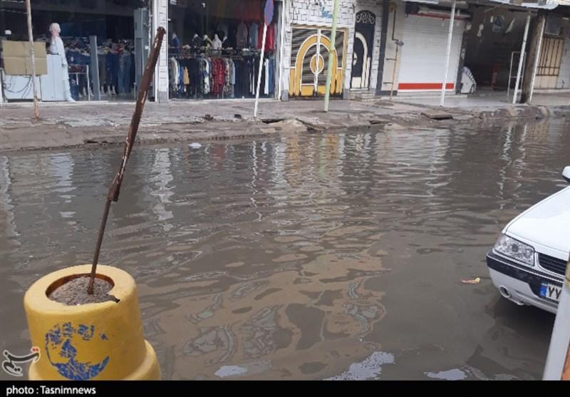 آبگرفتگی معابر شهر حمیدیه و مشکلات مردم/ داستانی که نقطه پایان ندارد + فیلم