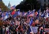 روز پر تنش واشنگتن؛ از درگیری هواداران ترامپ و بایدن تا شعارهای دزدی انتخابات+فیلم