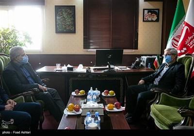 مجید قلیزاده مدیرعامل خبرگزاری تسنیم و جمال عرف معاون سیاسی وزارت کشور
