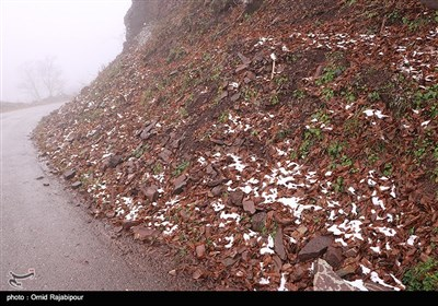 برف پاییزی در ارتفاغات رودسر