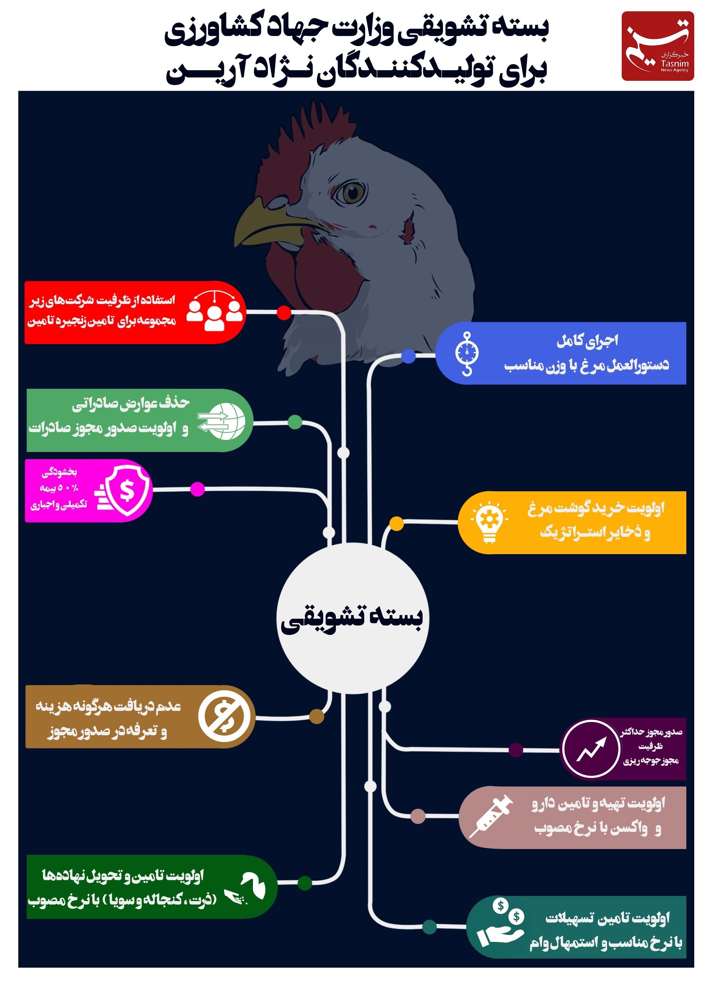 پایگاه خبری آرمان اقتصادی 13990901151325913216492310 «مرغ ایرانی» بستۀ تشویقی وزارت جهادکشاورزی برای تولیدکنندگان مرغ آرین + تصویر