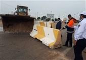 مسیر ایلام به خوزستان مسدود شد