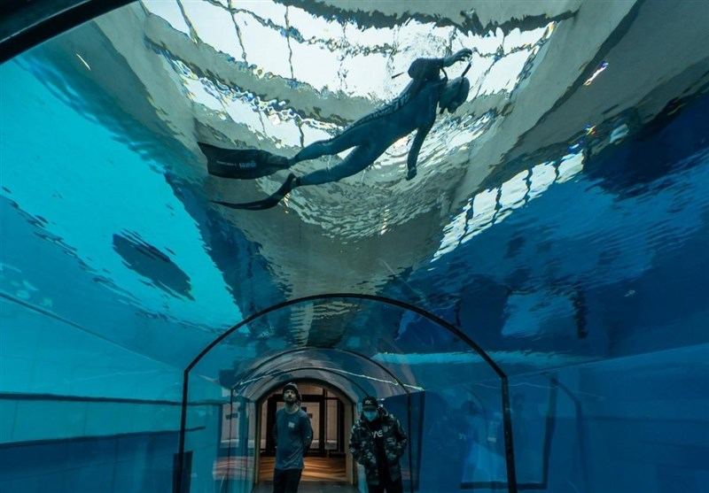 آغاز به کار عمیقترین استخر جهان با 45 متر عمق در لهستان