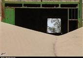 کمپ مهار بادهای سیستان زیر شنهای روان + تصاویر