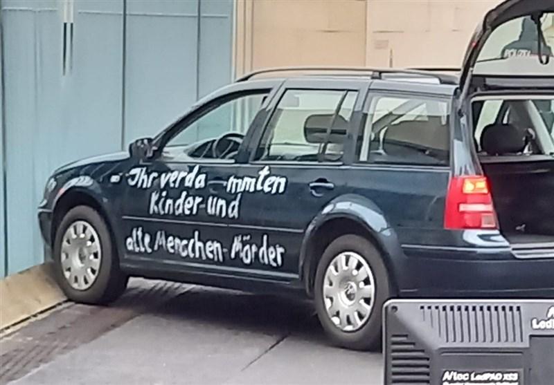 برخورد خودرو به درب ساختمان صدراعظم آلمان