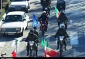 اصفهان| رژه موتوری نیروهای نظامی و انتظامی دهاقان به مناسبت گرامیداشت هفته بسیج به روایت تصویر
