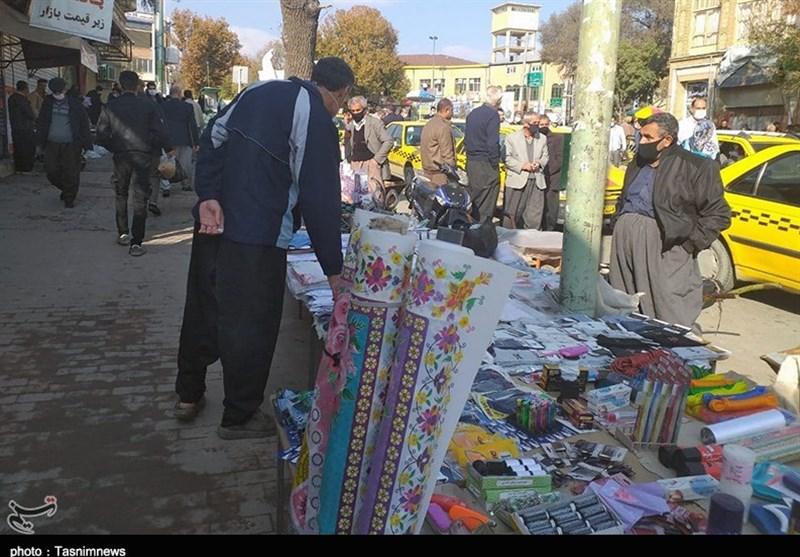 گزارش میدانی تسنیم از طرح تعطیلی اصناف در کردستان/ برخی کسبه و دستفروشان مشغول کسب و کارند+تصاویر