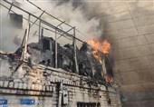 تهران| آتشسوزی در منزل دو طبقه مملو از ضایعات + فیلم و تصاویر