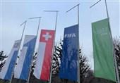 نیمه برافراشته شدن پرچمهای فیفا + عکس