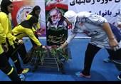 محکومیت حمله تروریستی و ادای احترام به شهید فخریزاده در لیگ برتر هندبال بانوان+عکس