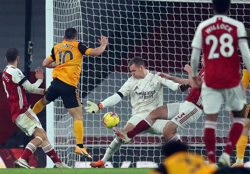 لیگ برتر انگلیس| تداوم نتایج ضعیف آرسنال با شکست مقابل ولورهمپتون