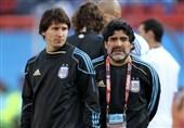 ادای احترام خاص مسی به مارادونا برای بارسلونا 3 هزار یورو تمام شد! + عکس