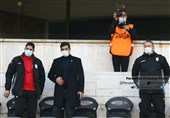 Iran Coaching Staff Attends Persepolis, Machine Sazi Match