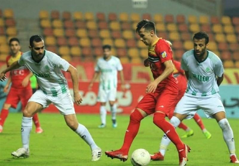 لیگ برتر فوتبال| دیدار فولاد و آلومینیوم برنده نداشت