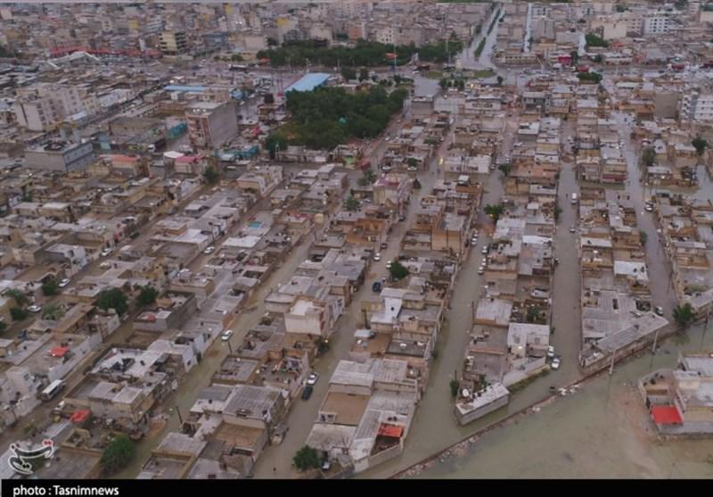 """اینجا """"ونیز""""نیست/آبگرفتگی عجیب منازل و معابر در بندر امام خمینی + فیلم"""