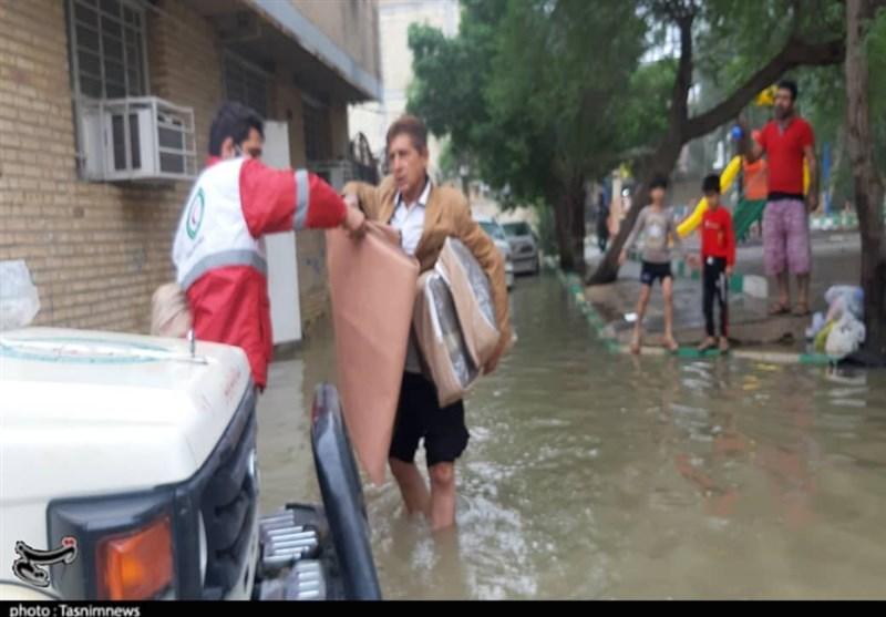 شهرهای اهواز و بندر امام خمینی بیشترین تاثیر را از بارندگیهای خوزستان را دیدند + فیلم