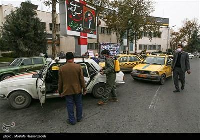 ضدعفونی کردن خودروهای حمل نقل عمومی در گرگان