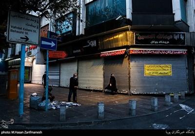 هفته دوم محدودیت های کرونایی - خیابان ولیعصر