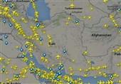 افزایش 130 درصدی پروازهای عبوری از آسمان ایران