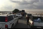 بازگشایی محور سیلزده دشتستان ـ گناوه در استان بوشهر/ ریزش کوه محور دشتستان ـ کازرون را مسدود کرد