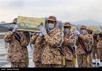 خاکسپاری پیکر۴ شهید گمنام در سه نقطه از کردستان