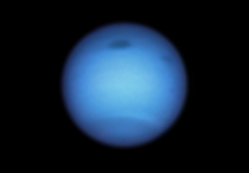 Dark Storm on Neptune Mysteriously Reverses Direction