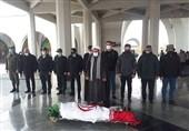 تشییع و خاکسپاری پیکرهای جانباز شهید و شهید مدافع سلامت در گلزار شهدا+عکس