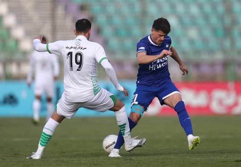 لیگ برتر فوتبال  تساوی یک نیمهای ذوبآهن و استقلال
