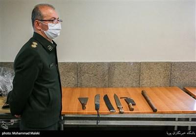 سلاح های سرد کشف شده از متهمان