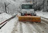 بارش برف آذربایجان شرقی را سفیدپوش کرد + فیلم