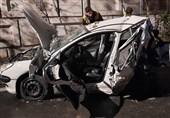 متلاشی شدن پژو 206 پس از واژگونی در بزرگراه رسالت + تصاویر