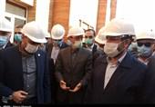 """بازدید رئیس بنیاد مستضعفان از پروژه بیمارستان """"آیتالله طالقانی"""" آبادان + فیلم"""