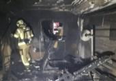 تهران  نجات 35 نفر در آتشسوزی ساختمان اداری + تصاویر