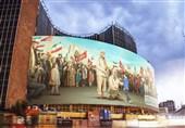 دیوارنگاره میدان ولیعصر(عج) به تصاویر حاج قاسم و ابومهدی المهندس مزین شد+عکس و فیلم