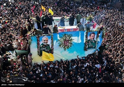 تشییع سپهبد شهید حاج قاسم سلیمانی در کرمان