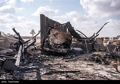 پایگاه آمریکایی عینالاسد در عراق پس از حمله موشکی ایران