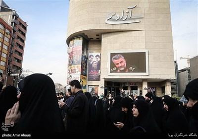 تهران پس اعلام شهادت سپهبد شهید حاج قاسم سلیمانی