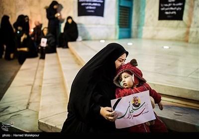سوگواری مردم تهران پس اعلام شهادت سپهبد شهید حاج قاسم سلیمانی