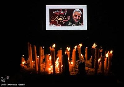 شام غریبان سپهبد شهید حاج قاسم سلیمانی در میدان فلسطین تهران