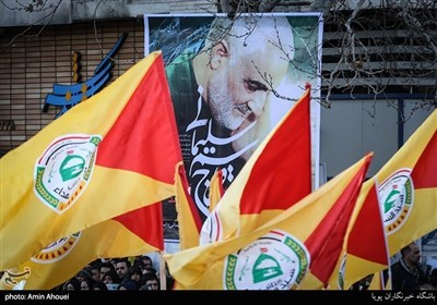 تشییع سپهبد شهید حاج قاسم سلیمانی در تهران