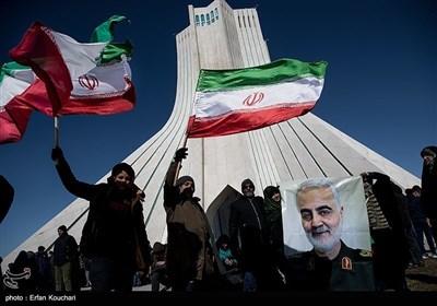 راهپیمایی 22 بهمن و چهلمین روز شهادت سپهبد شهید حاج قاسم سلیمانی در میدان آزادی