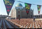 آیین توزیع 4500 بسته معیشتی در امامزاده حسین(ع) قزوین به روایت تصاویر