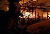 آتشسوزی گسترده در گاراژی بزرگ در جنوب تهران + تصاویر