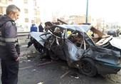 2 کشته و 16 مجروح در تصادفات 5 فروردین تهران/ متواری شدن راننده پس از تصادف مرگبار با عابرپیاده