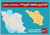 تازهترین وضعیت شیوع کووید19 در استان چهارمحال و بختیاری| 4 شهرستان در وضعیت آبی؛ آمار مبتلایان کاهش نداشته است+جدول