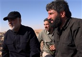 انتشار برای اولین بار  فیلم کامل نگرانیِ «آقای اصغر» برای حاج قاسم در خط مقدم