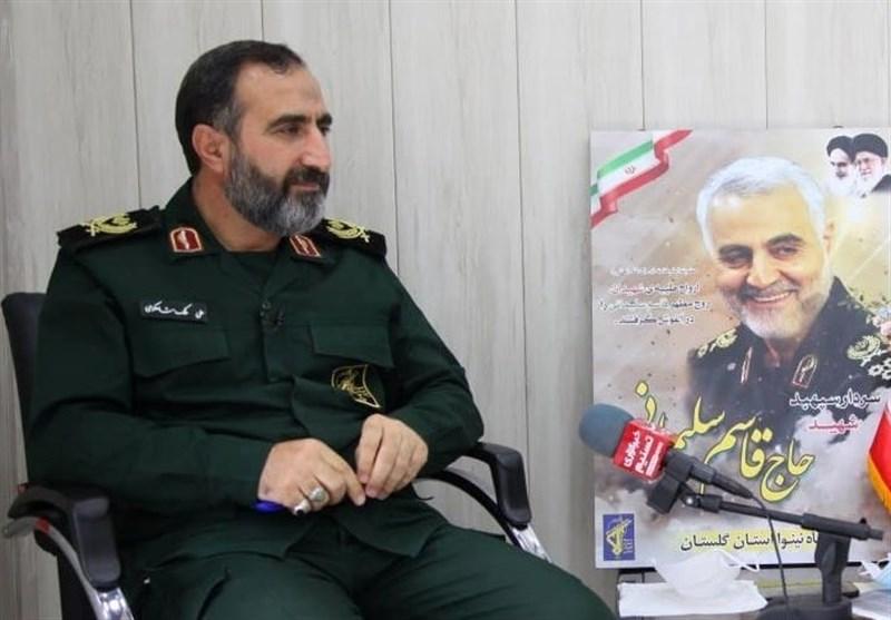 فرمانده سپاه استان گلستان: مردم با مشارکت حداکثری دشمنان را ناامید کنند+فیلم